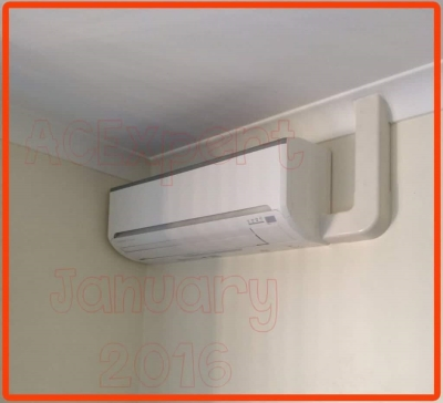 No cavity example of air conditioning installation