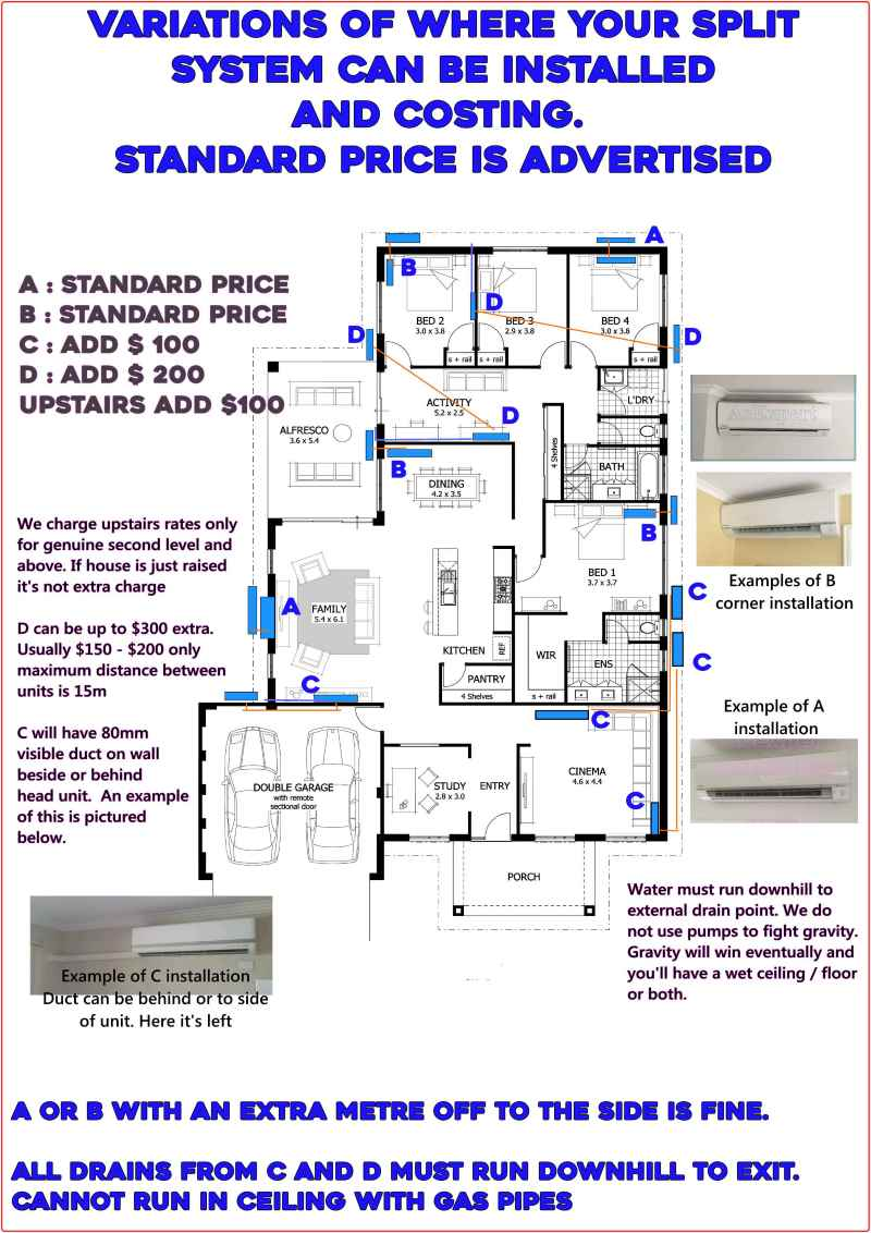 Example house plan for best place for an air conditioner page ac expert