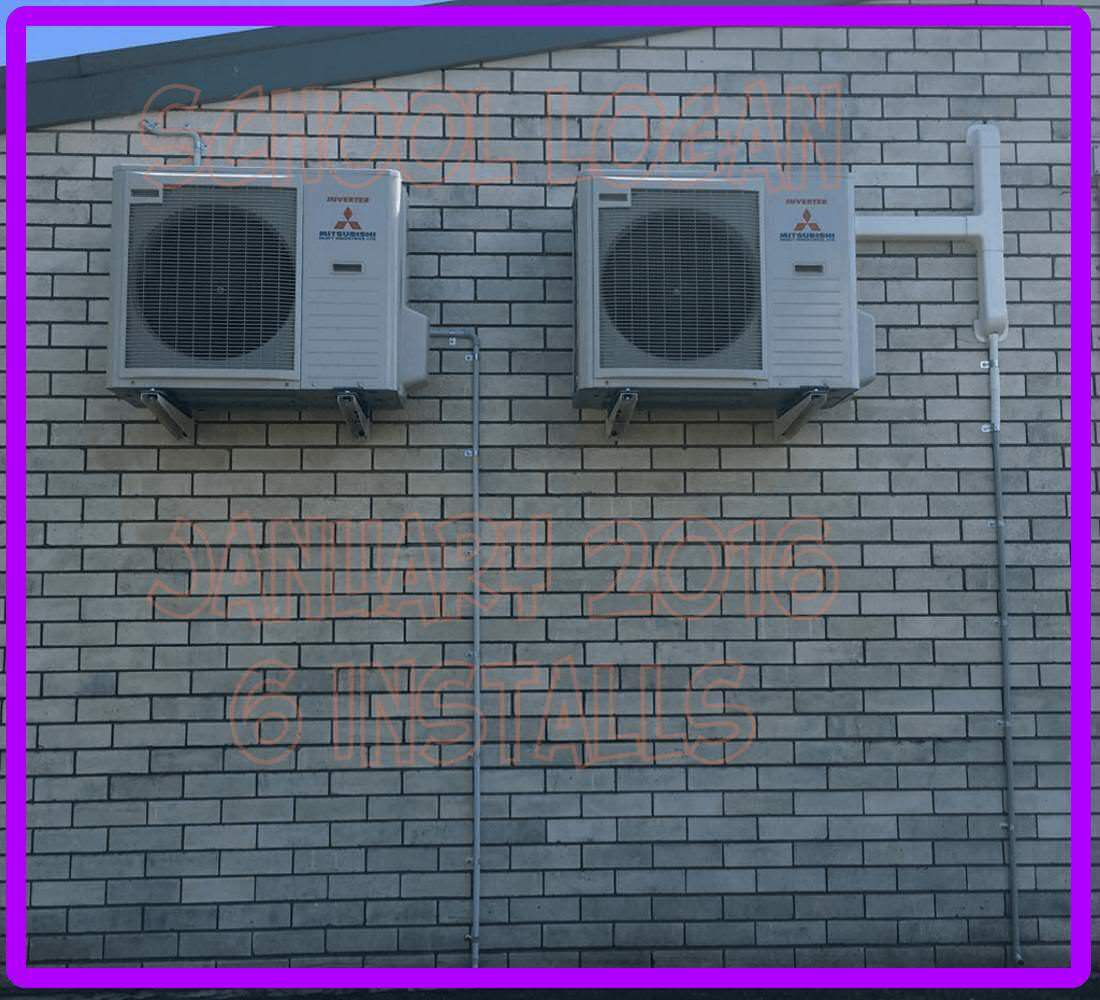 split system air conditioners example install brisbane 8