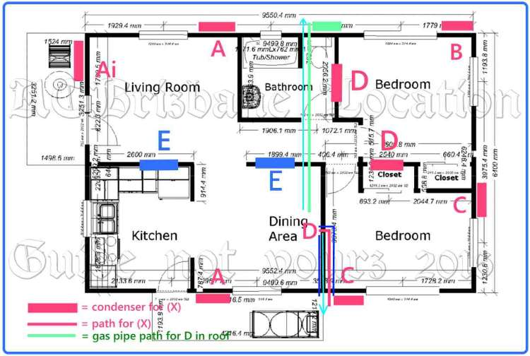 house installation diagram for air conditioning quote page