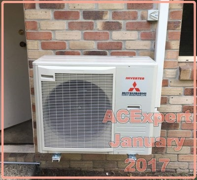 bracket mounted example mitsubishi air conditioner prices brisbane