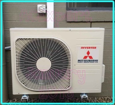 air conditioner sound example AC expert Mitsubishi Installation 2017