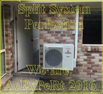installation of second best brand of air conditioner example