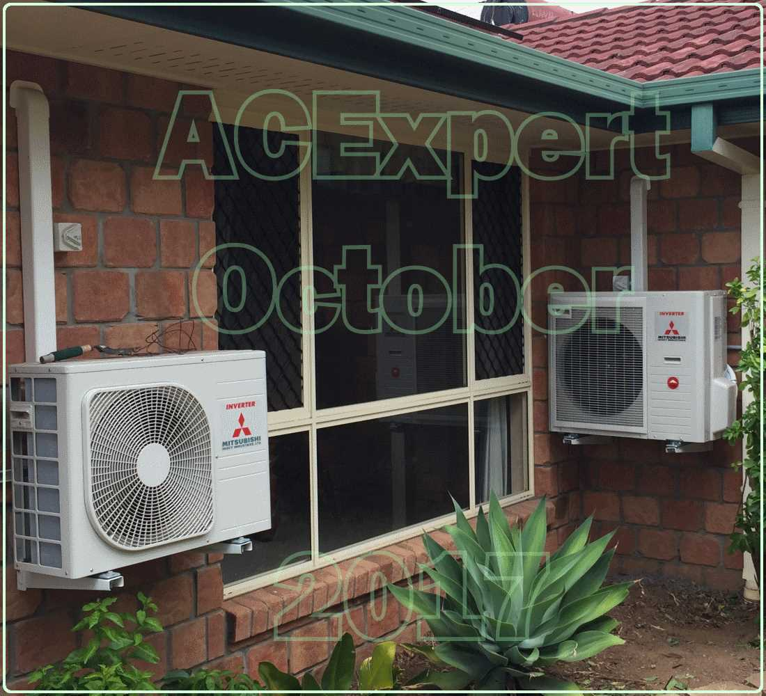 Panasonic Summer air conditioning installs 2017 Mitsubishi x 2