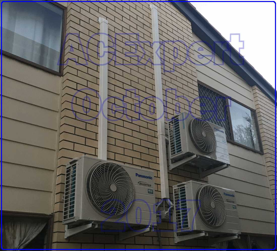 Panasonic Summer air conditioning installs 2017 Stacked x 3 high