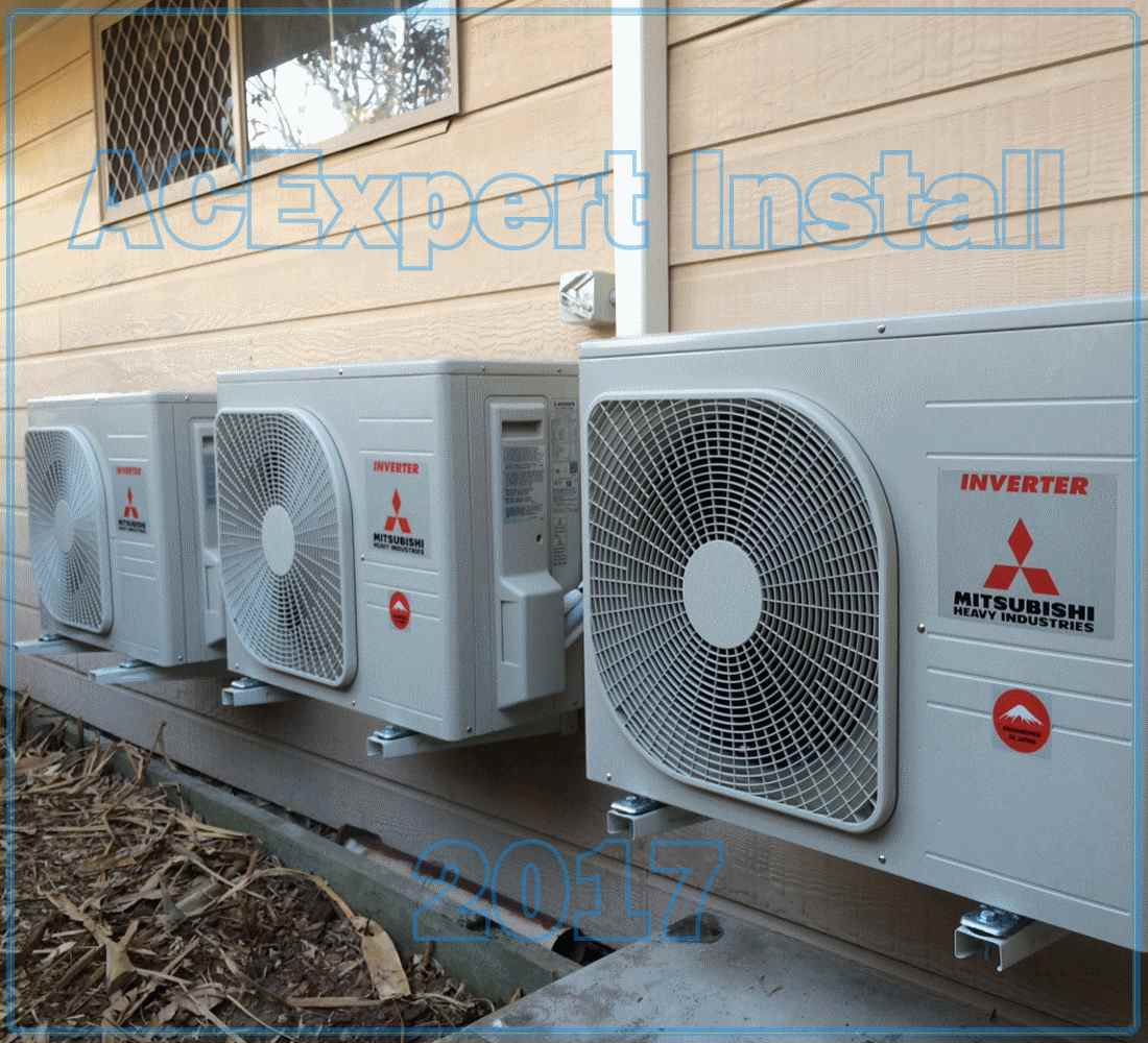 Panasonic Summer air conditioning installs 2017 Mitsubishi x 3
