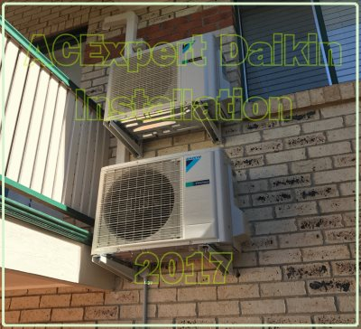 Daikins vertically installed air conditioning installs Summer of 2017
