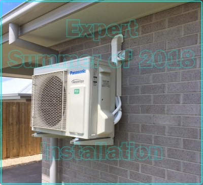 Summer of 2018 Panasonic air conditioner installation Brisbane