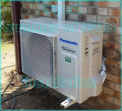Air Conditioning installation in Brisbane summer of 2018 install